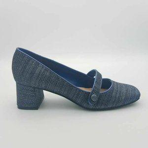 Isaac Mizrahi Scarlet  Pump Block Heels 6.5